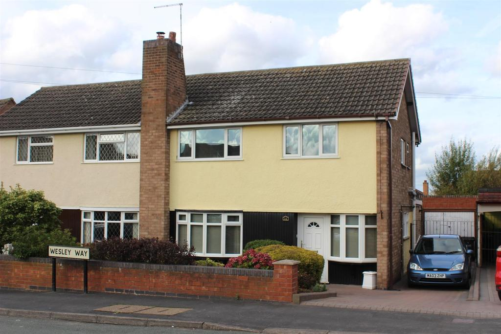 3 Bedrooms Semi Detached House for sale in Wesley Way, Amington, Tamworth