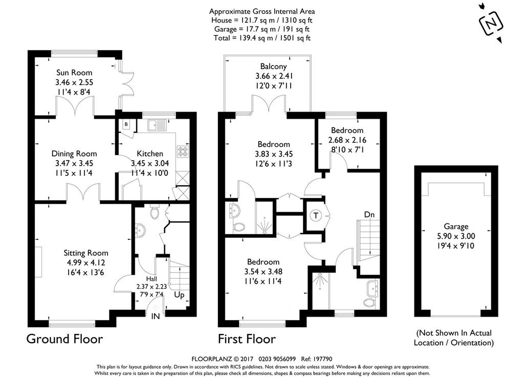 Priory Court, Marlborough, Wiltshire 3 Bed End Of Terrace