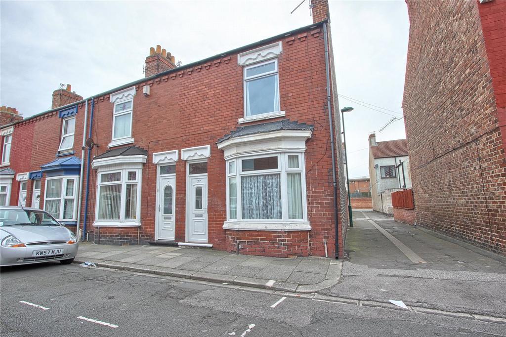 2 Bedrooms End Of Terrace House for sale in Soppett Street, Redcar