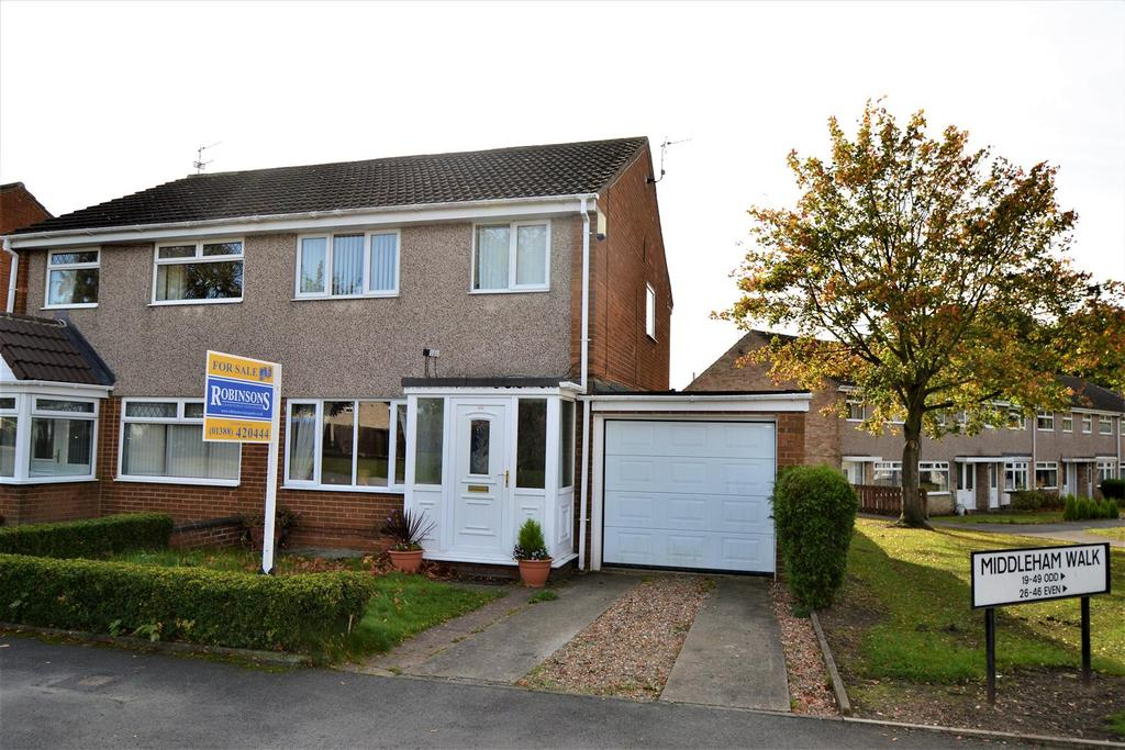 3 Bedrooms Semi Detached House for sale in Middleham Walk, Spennymoor