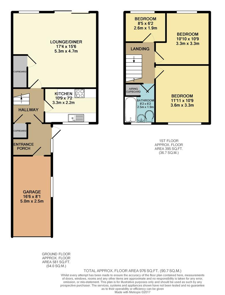Plymouth avenue woodley reading 3 bed terraced house for Reading a floor plan