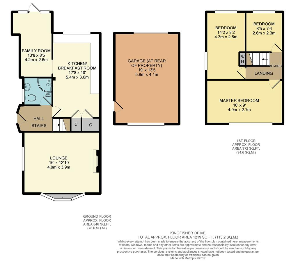 Kingfisher drive woodley reading 3 bed semi detached for Reading a floor plan