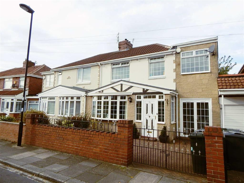 4 Bedrooms Semi Detached House for sale in Tynedale Avenue, Kings Estate, Wallsend, NE28