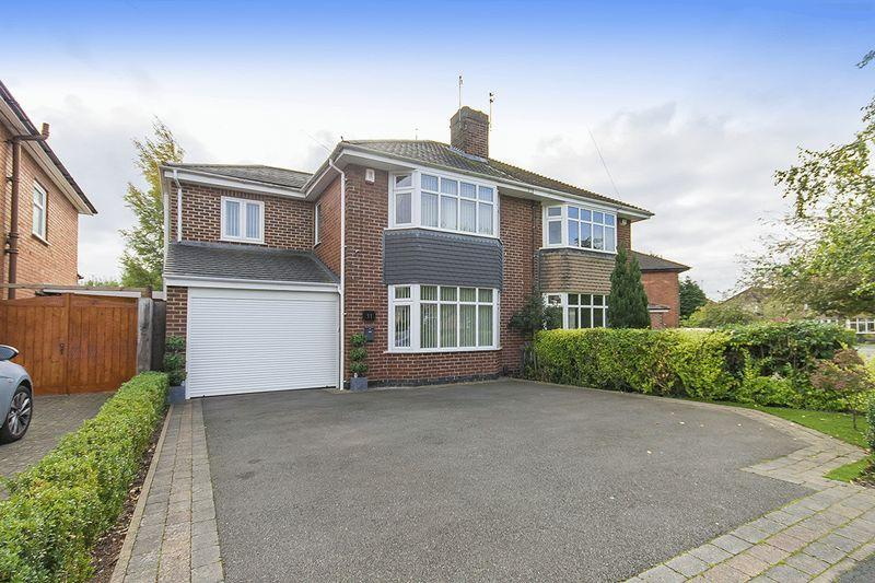 4 Bedrooms Semi Detached House for sale in Fairway Crescent, Allestree