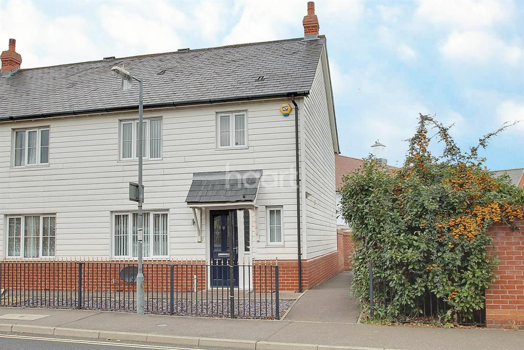 3 Bedrooms End Of Terrace House for sale in Marsh Crescent, Rowhedge.