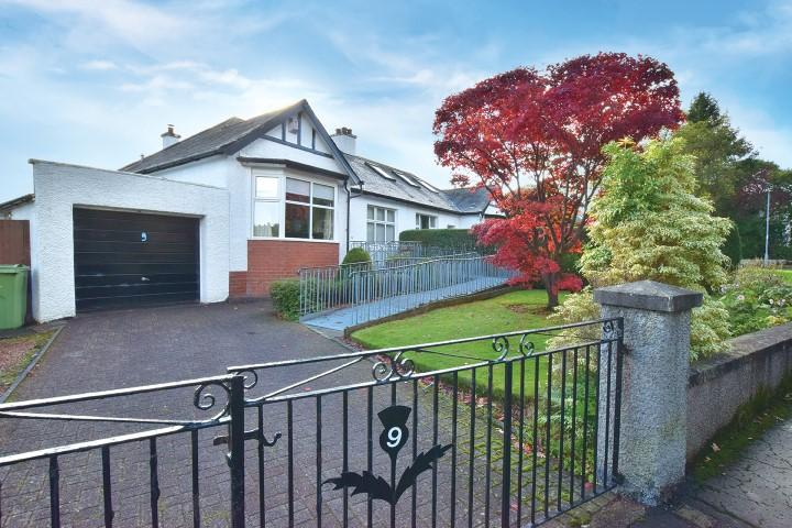 3 Bedrooms Semi Detached Bungalow for sale in 9 Craigton Gardens, Milngavie, G62 7AS