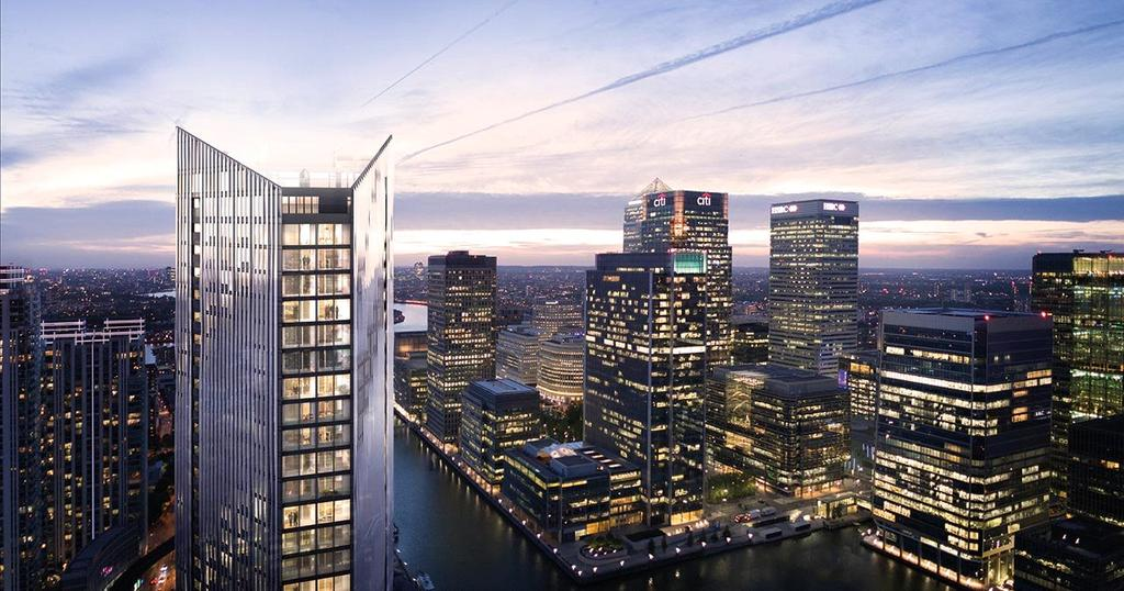 2 Bedrooms Flat for sale in The Madison, Marsh Wall, Canary Wharf, London, E14