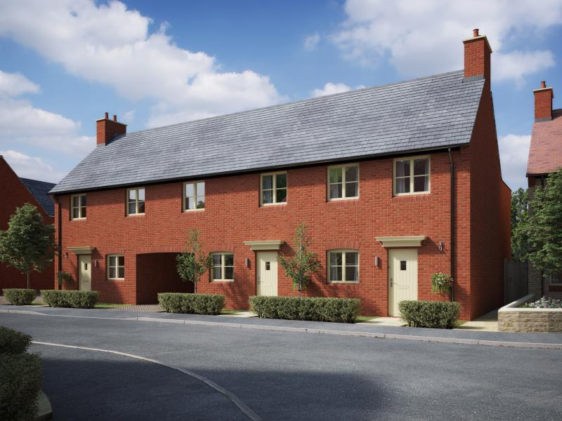 3 Bedrooms Terraced House for sale in Plot 7, The Meadows, Old Stratford, Milton Keynes, Northamptonshire