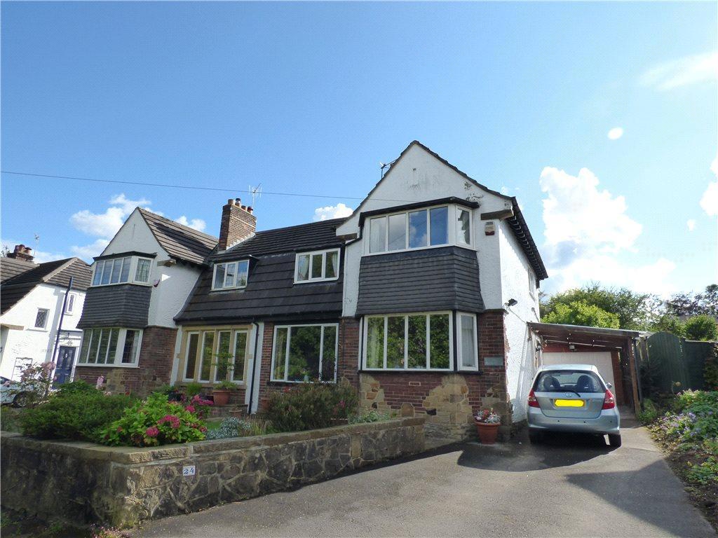 3 Bedrooms Semi Detached House for sale in Grange Park Drive, Bingley, West Yorkshire