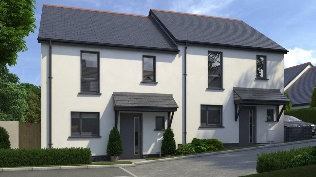 2 Bedrooms Semi Detached House for sale in Penrose View, School Hill, Shortlanesend, Cornwall