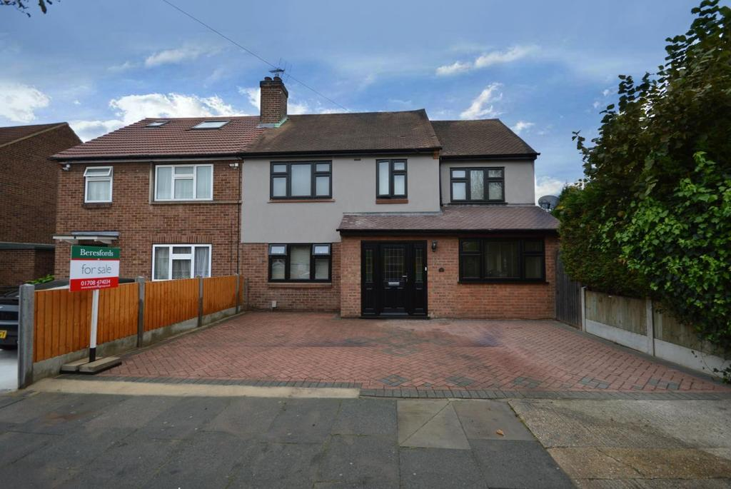 4 Bedrooms Semi Detached House for sale in Rosewood Avenue, Hornchurch, Essex, RM12