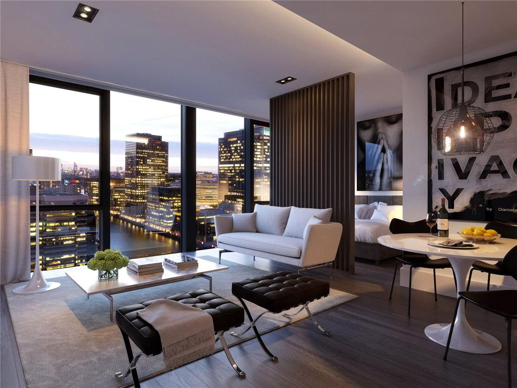 2 Bedrooms Penthouse Flat for sale in The Madison, 199-207 Marsh Wall, London, E14