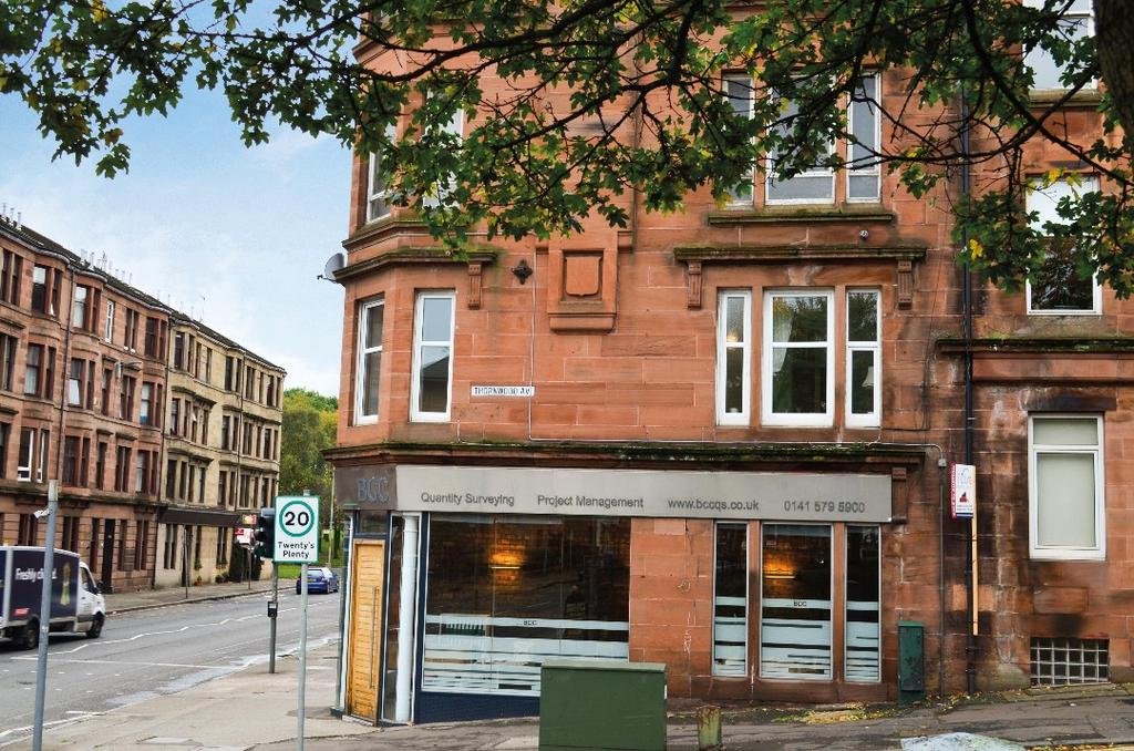 1 Bedroom Flat for sale in Dumbarton Road, Flat 1/1, Thornwood, Glasgow, G11 6RA