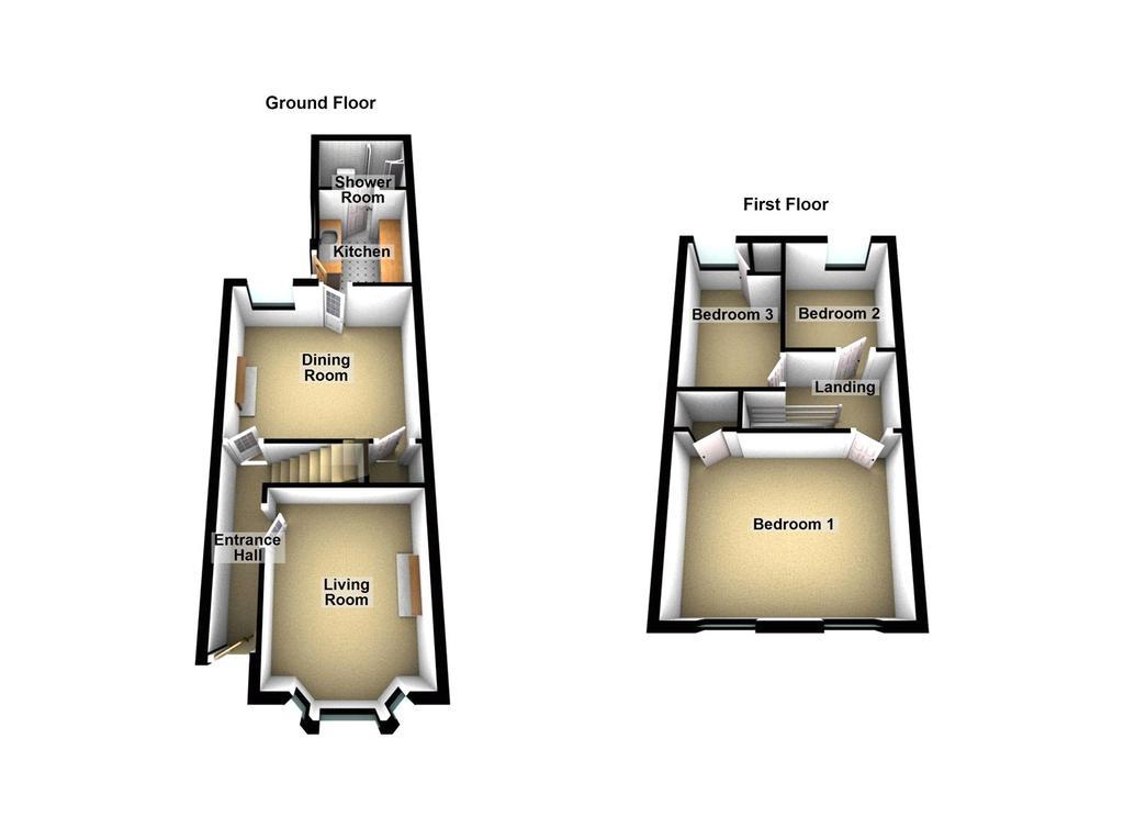 Floorplan 1 of 2: 3 D Floopland