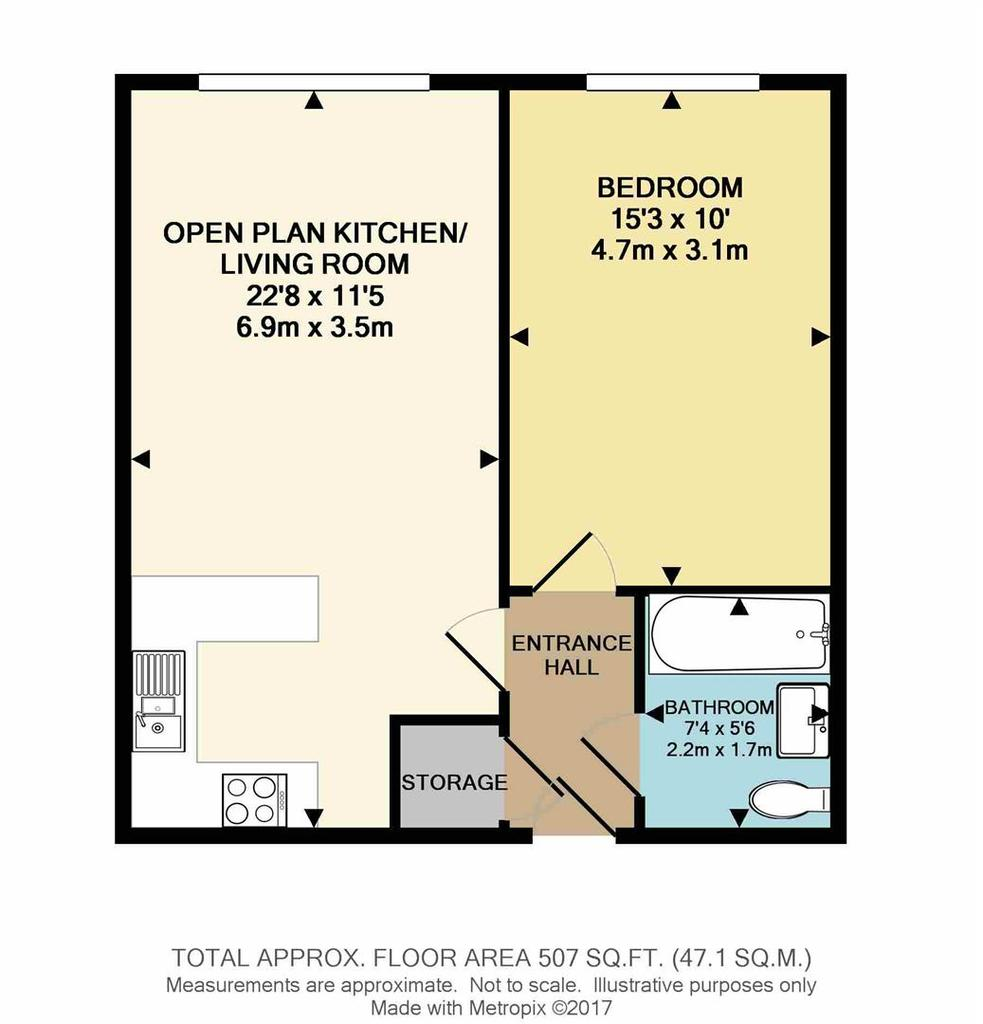 Hatfield road st albans 1 bed flat 157 500 for 125 court street floor plans