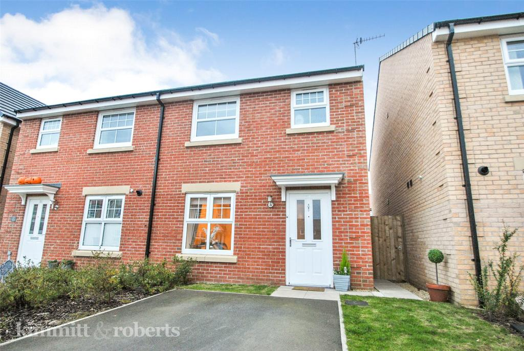 3 Bedrooms Semi Detached House for sale in Auckland Close, Signet Grange, Houghton le Spring, DH4
