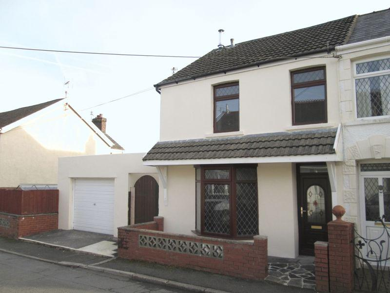 3 Bedrooms Semi Detached House for sale in Meadow Street Aberkenfig Bridgend CF32 9BE