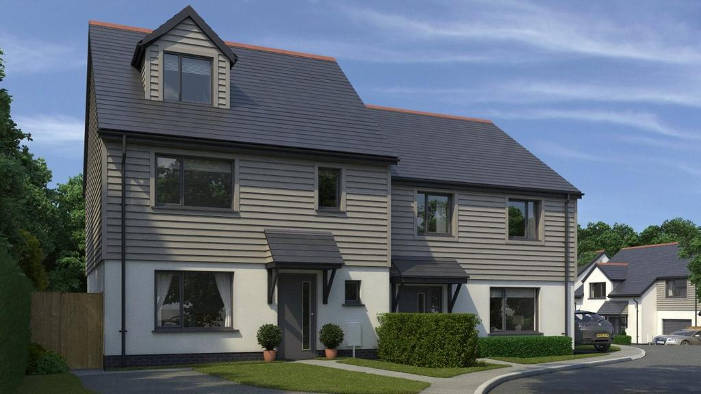 4 Bedrooms Semi Detached House for sale in Penrose View, School Hill, Shortlanesend, Cornwall