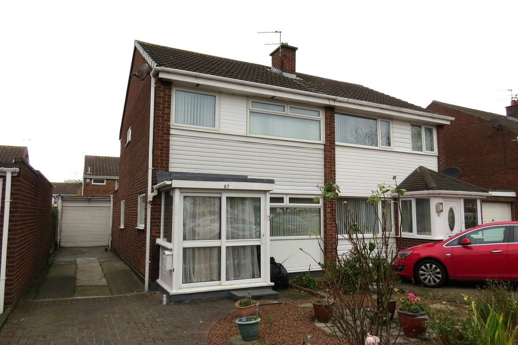 3 Bedrooms Semi Detached House for sale in Burnside, North Seaton, Ashington