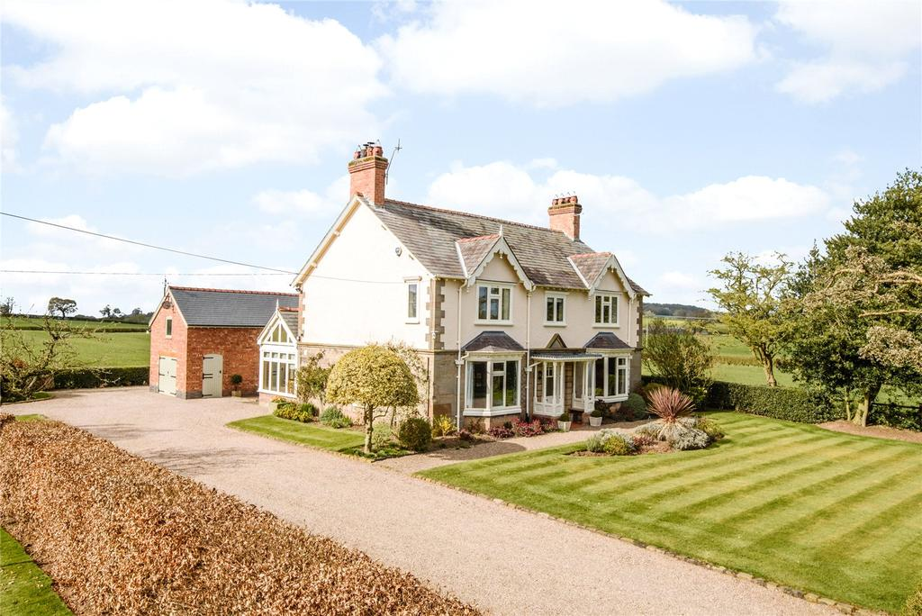 5 Bedrooms Detached House for sale in Bickerton Road, Hampton, Nr Malpas, Cheshire, SY14