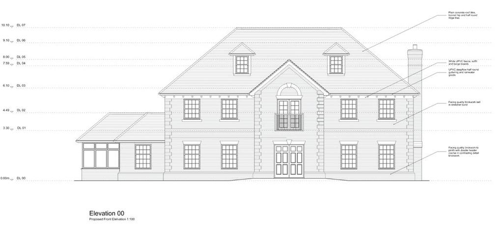 Front Elevation Planning Permission : Scures hill nately hook hampshire rg bed