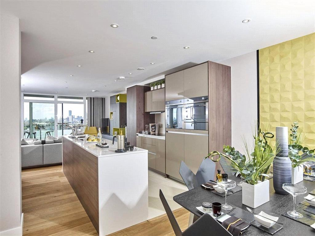 3 Bedrooms Flat for sale in Iverna Quay, Greenwich Millennium Village, Greenwich, London, SE10