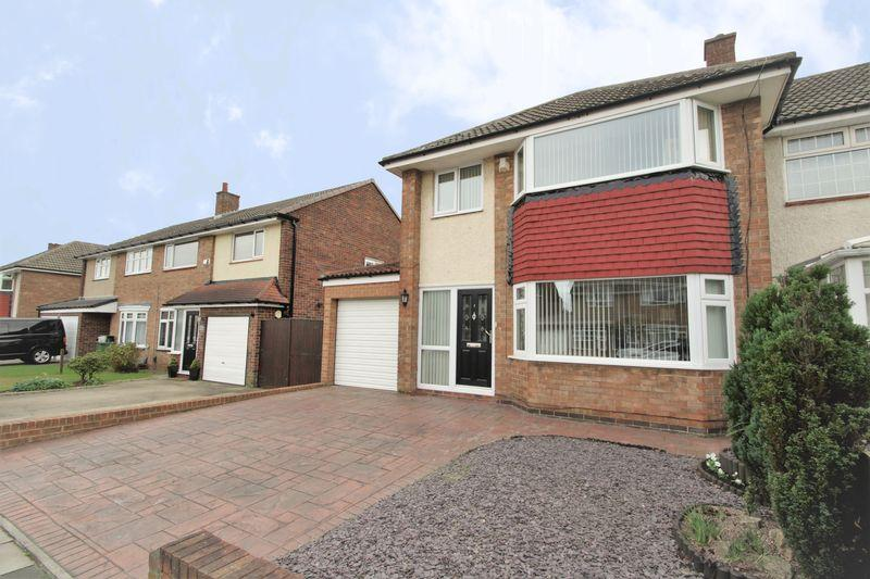 3 Bedrooms Semi Detached House for sale in Wellburn Road, Fairfield, Stockton, TS19 7PT