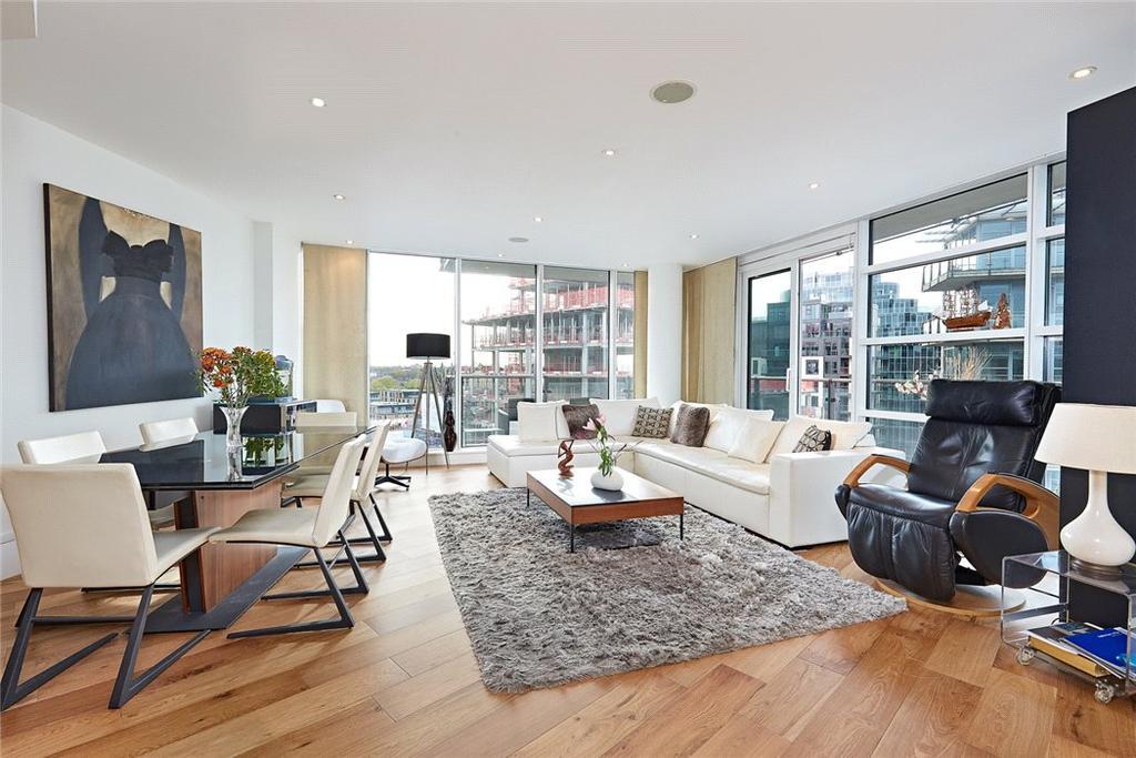 3 Bedrooms Flat for sale in Kingfisher House, Juniper Drive, Battersea Reach, London, SW18