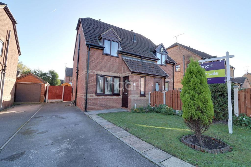 2 Bedrooms Semi Detached House for sale in Headlingley Way, Edlington, Doncaster