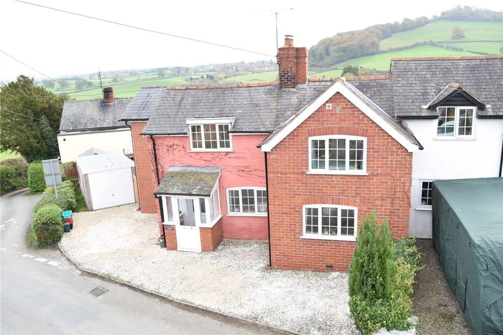 4 Bedrooms End Of Terrace House for sale in Hen Domen Cottages, Hen-Domen, Montgomery, Powys