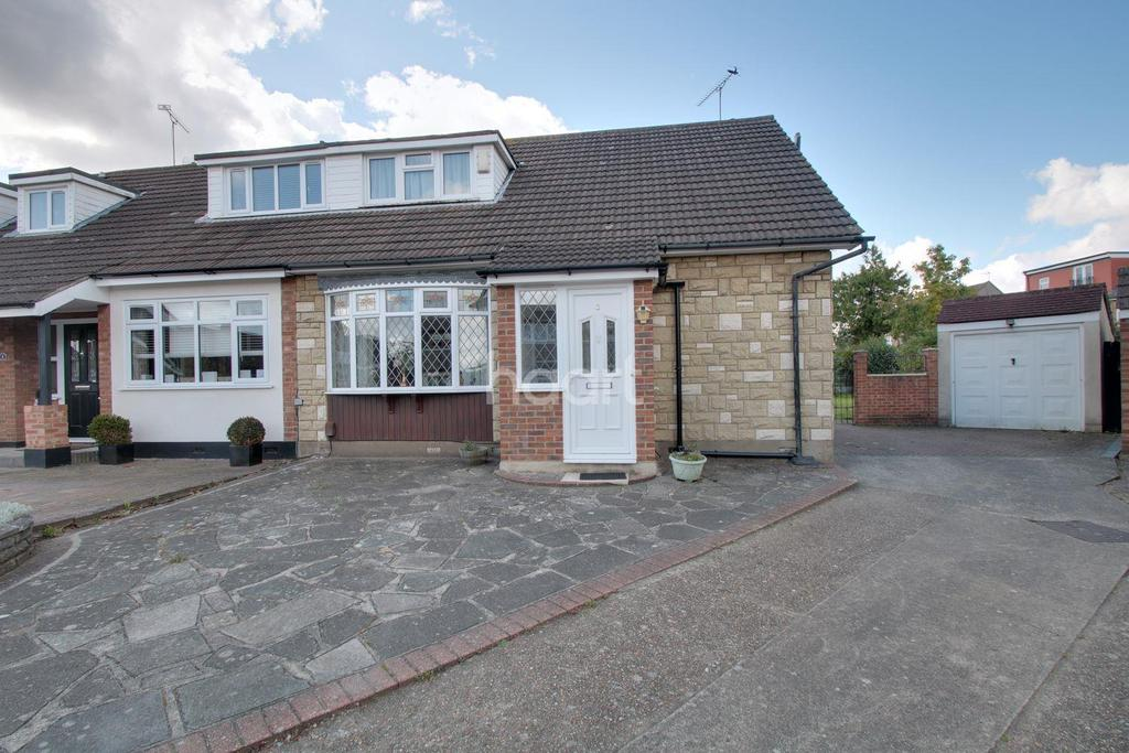 3 Bedrooms Semi Detached House for sale in Cheveley Close, Harold Wood, RM3 0EU