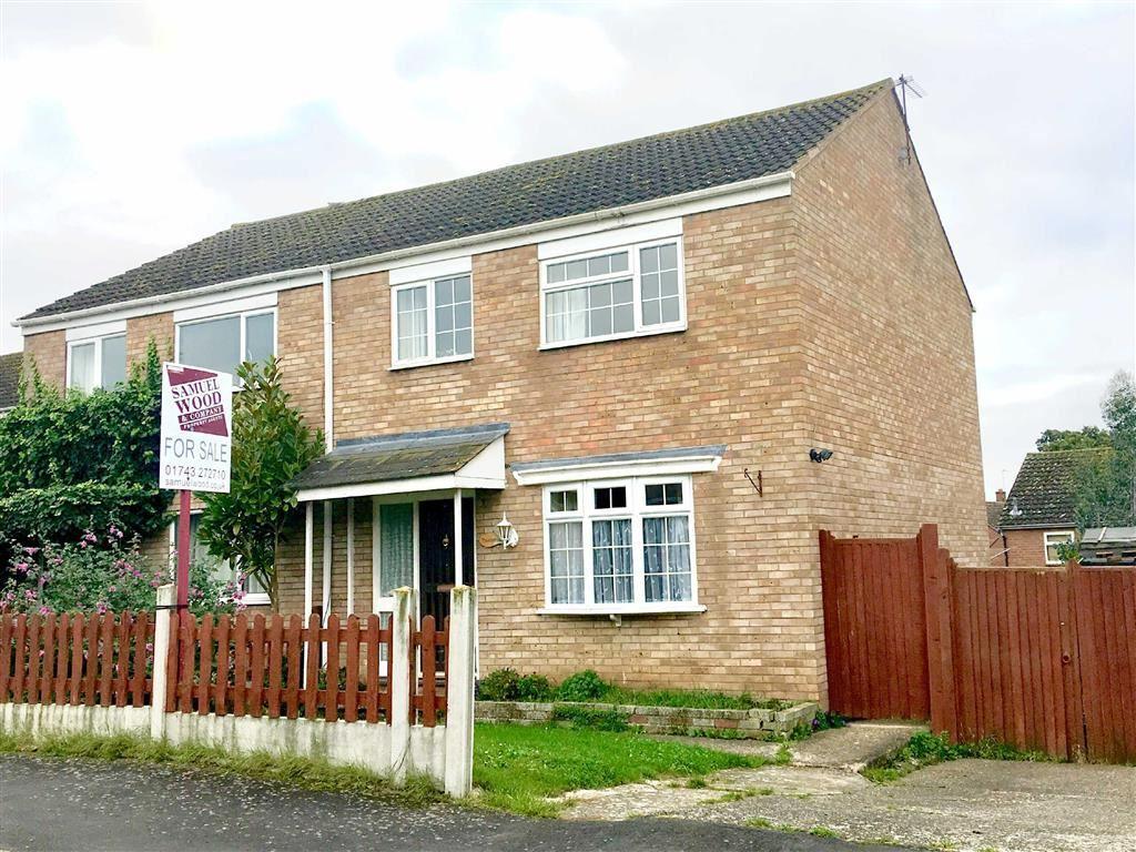 3 Bedrooms Semi Detached House for sale in Derwent Avenue, Shrewsbury
