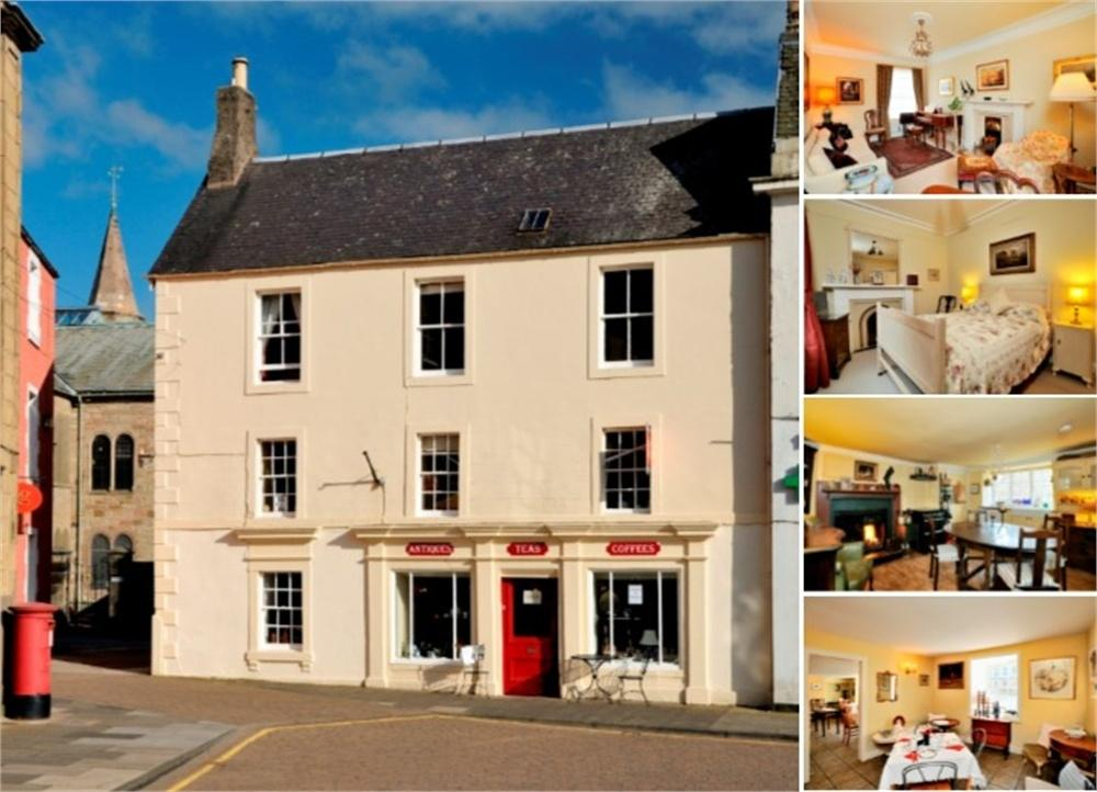 3 Bedrooms End Of Terrace House for sale in Period Townhouse with separate Tea Room, 2 Church Square and 5 Market Square, Duns, Berwickshire, Scottish Borders