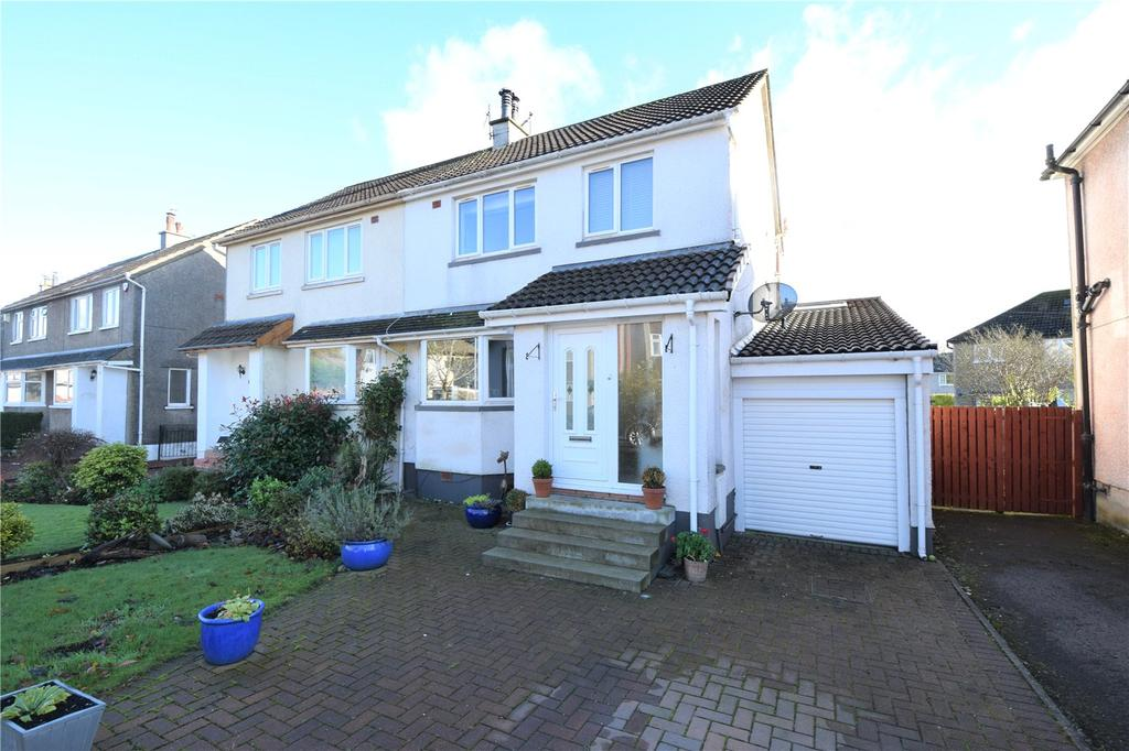 3 Bedrooms Semi Detached House for sale in Craigbank Crescent, Eaglesham, Glasgow