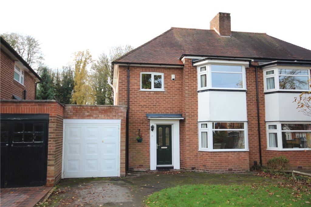 3 Bedrooms Semi Detached House for sale in Highwood Avenue, Solihull, West Midlands, B92