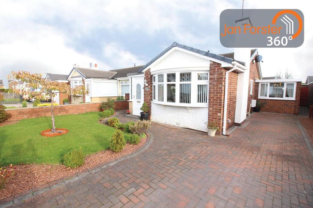 2 Bedrooms Semi Detached Bungalow for sale in Briardene Drive, Gateshead