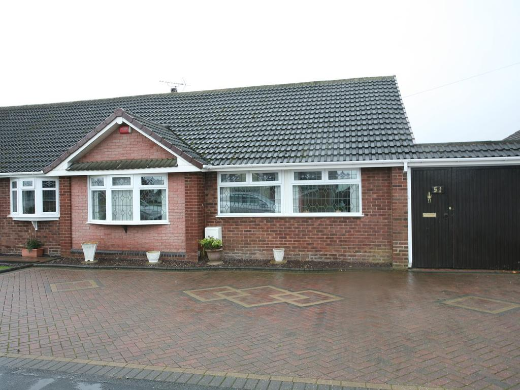 3 Bedrooms Semi Detached Bungalow for sale in 51 Druids Avenue, Aldridge, Walsall, WS9 8LA