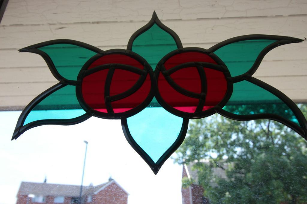 Patterned glazed door
