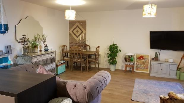 Spacious open plan lounge area
