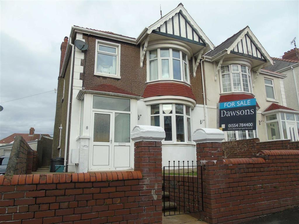 4 Bedrooms Semi Detached House for sale in Belvedere Road, Llanelli