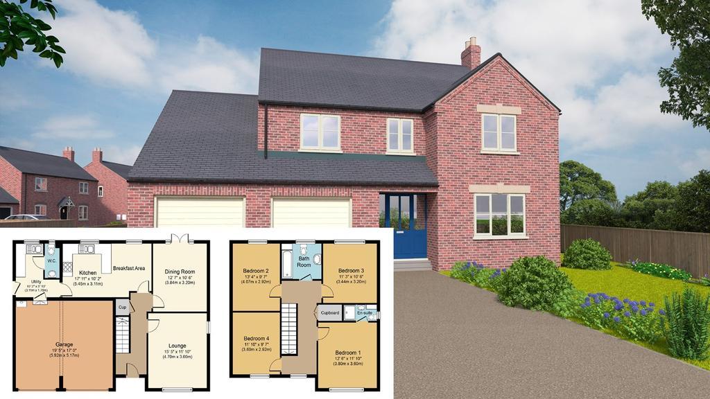 4 Bedrooms Detached House for sale in Plot 2, Grimwood Close, Fleet, PE12