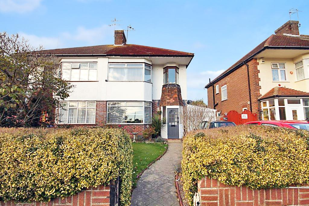 3 Bedrooms Semi Detached House for sale in Orchard Avenue, Worthing BN14 7PY