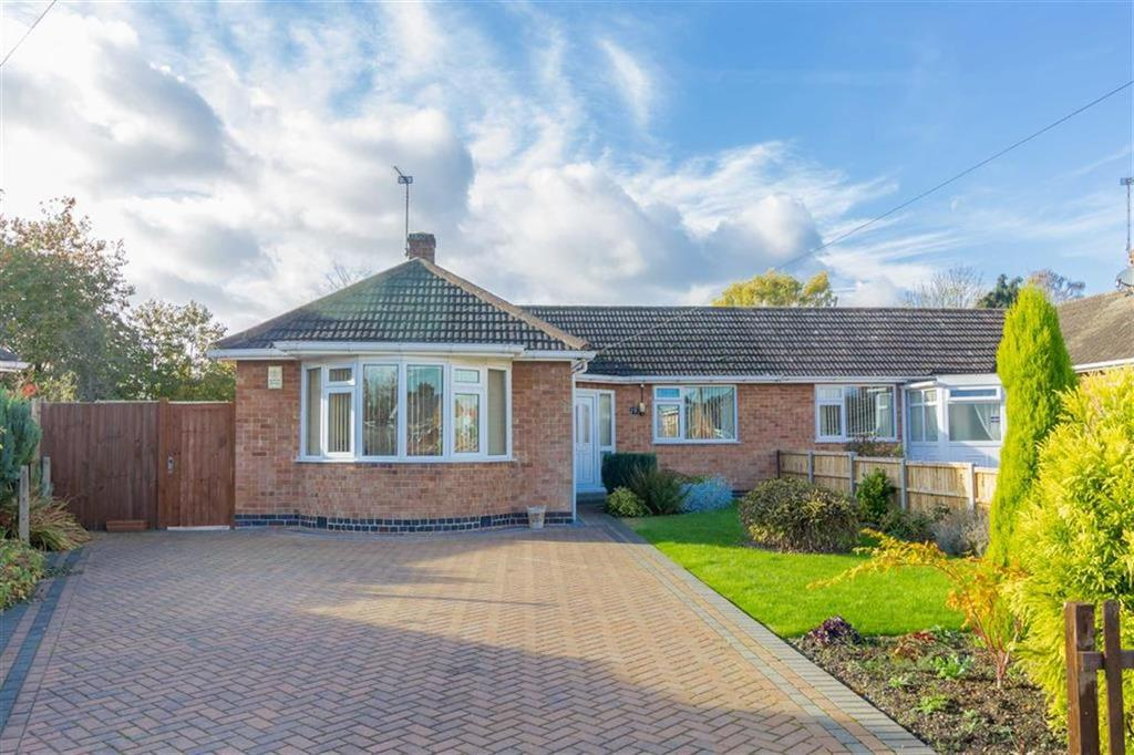 2 Bedrooms Semi Detached Bungalow for sale in Croome Close, Loughborough, LE11