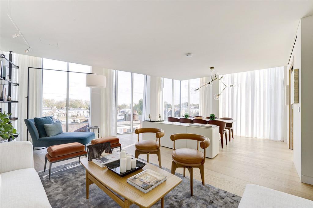 3 Bedrooms Penthouse Flat for sale in Kensington Church Street, London, W8