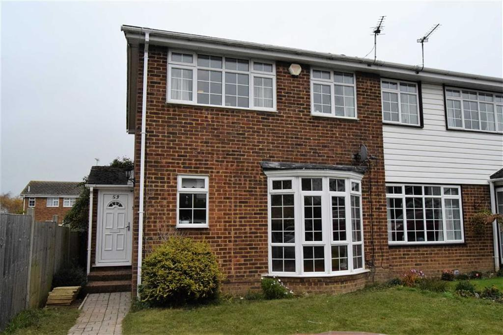 3 Bedrooms End Of Terrace House for sale in Wheatcroft Grove, Rainahm, Kent, ME8