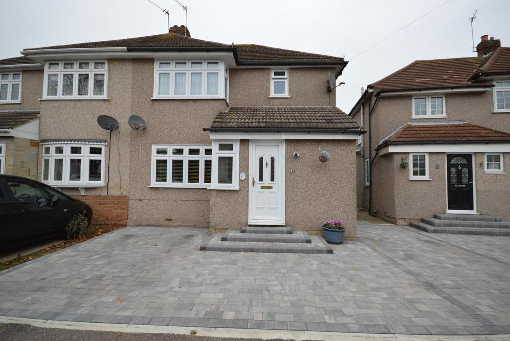 3 Bedrooms Semi Detached House for sale in Rosebank Avenue, Hornchurch, Essex, RM12