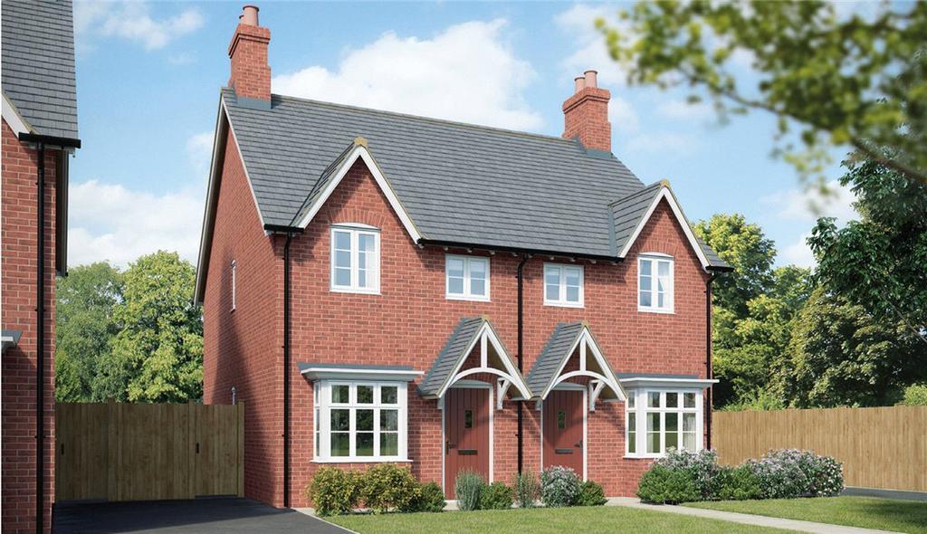 2 Bedrooms Semi Detached House for sale in Millbrook Grange Development, Moulton, Northampton, NN3