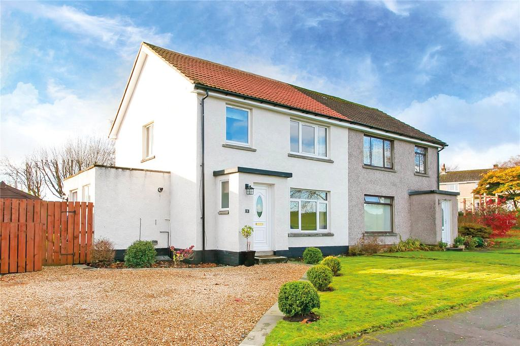 3 Bedrooms Semi Detached House for sale in Ingliston Drive, Bishopton, Renfrewshire