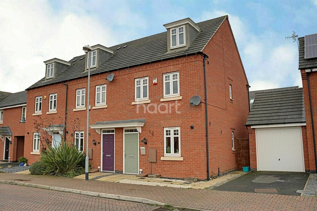 3 Bedrooms End Of Terrace House for sale in Red Kite Close, Hucknall