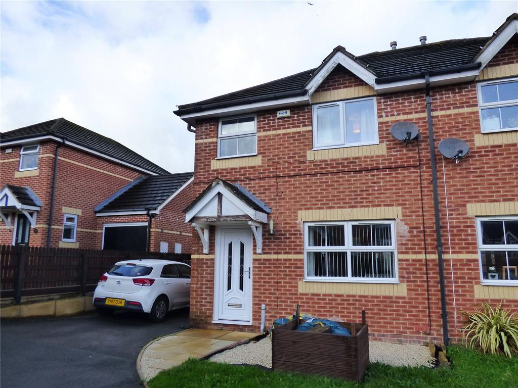 3 Bedrooms Semi Detached House for sale in Mulberry Court, Golcar, Huddersfield, West Yorkshire, HD7